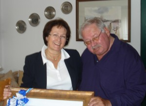 Walter Kindermann sen. mit BGMin Grudrun Unverdorben
